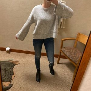 Top shop gray sweater